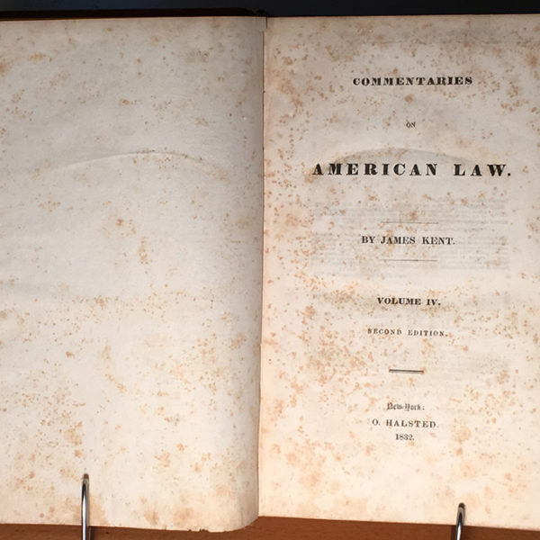 Commentaries on American Law | James Kent