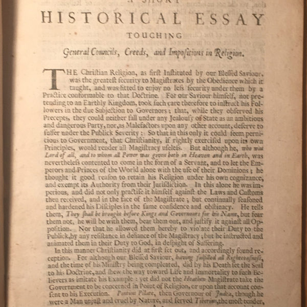 A Short Historical Essay | Andrew Marvell | 1687