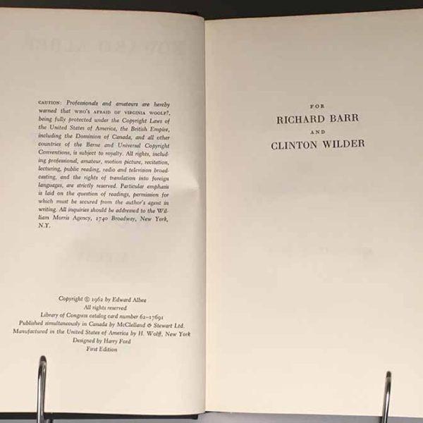 Who's Afraid of Virginia Woolf? Edward Albee