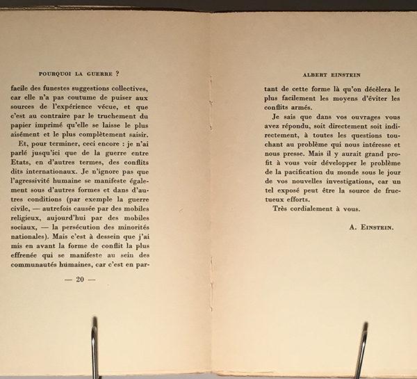 Pourquoi la Guerre? Einstein & Freud Letters